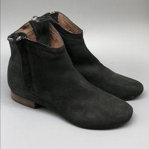 Sam Edelman black double zipper leather booties